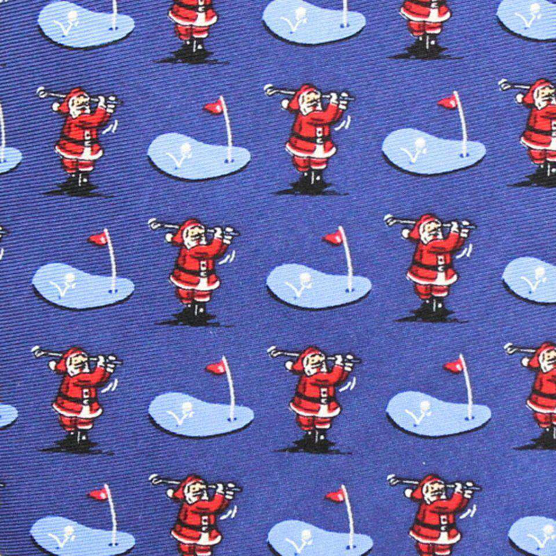 Neck Ties - Ho Ho Hole In One Neck Tie In Navy By Bird Dog Bay