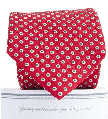 Holiday Dots Tie in Red by Collared Greens