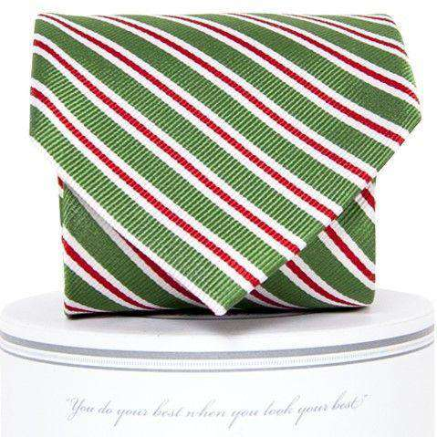 Holiday Stripes Tie in Green by Collared Greens