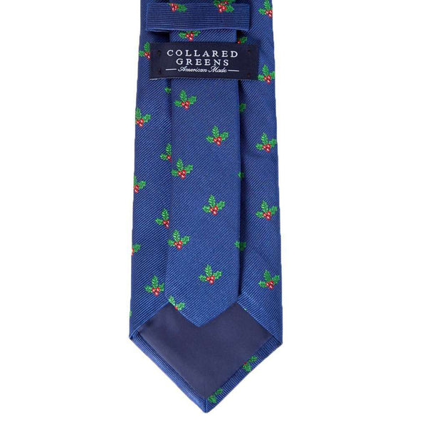 Holly Jolly Tie in Navy by Collared Greens