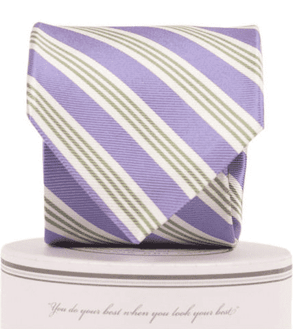 Neck Ties - Homestead Tie In Purple And Green By Collared Greens