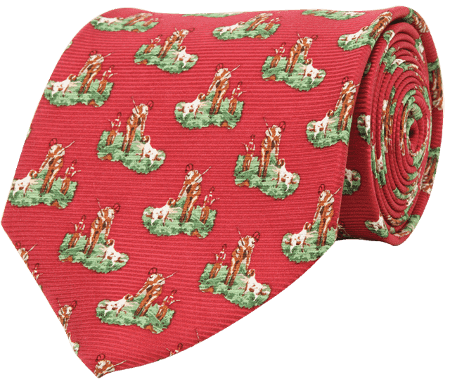 Neck Ties - Hunter & Son Tie In Red By Southern Proper