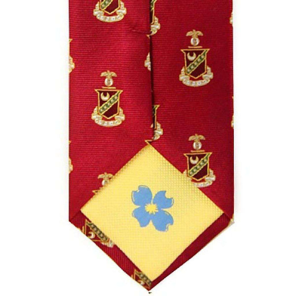 Kappa Sigma Neck Tie in Scarlet by Dogwood Black