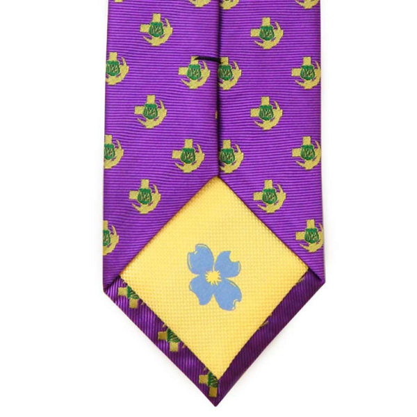 Neck Ties - Lambda Chi Alpha Neck Tie In Purple By Dogwood Black