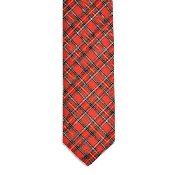 Macintosh Tartan Necktie in Red Plaid by High Cotton