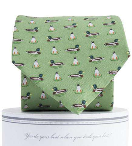 Mallard Neck Tie in Green by Collared Greens