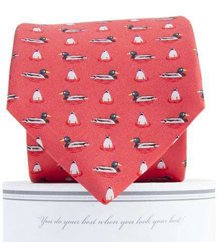 Mallard Neck Tie in Salmon by Collared Greens