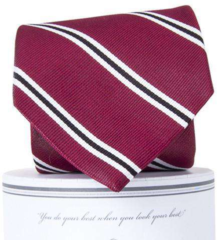 Martin Neck Tie in Garnet and Black by Collared Greens