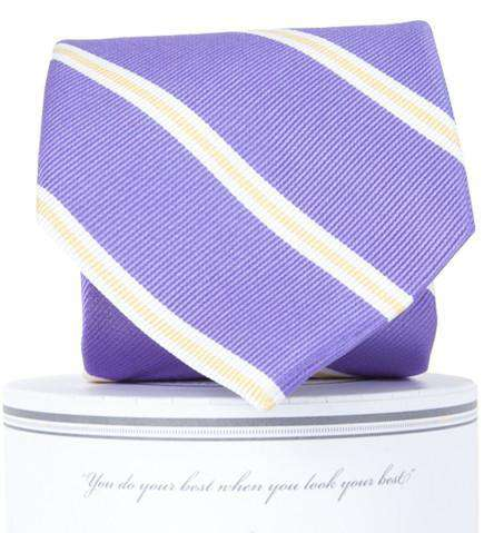 Neck Ties - Martin Neck Tie In Purple And Gold By Collared Greens