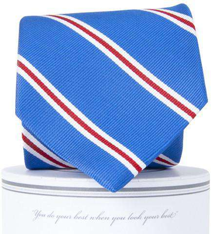 Martin Neck Tie in Royal Blue and Red by Collared Greens