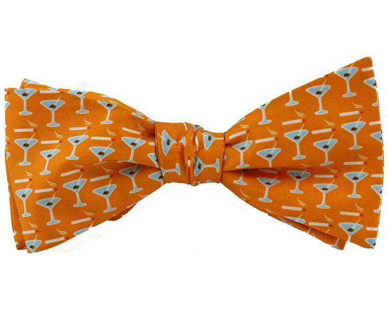 Neck Ties - Martini Bow Tie In Orange By Salmon Cove