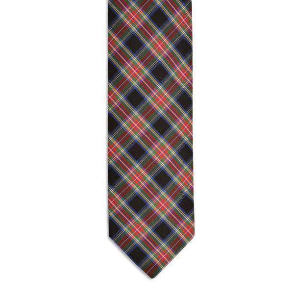 McMillan Tartan Necktie in Black Plaid by High Cotton