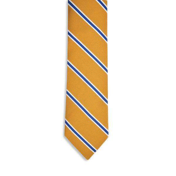 Noble Stripe Necktie in Gold by High Cotton