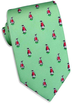 Neck Ties - North Pole Parade Tie In Mint By Bird Dog Bay