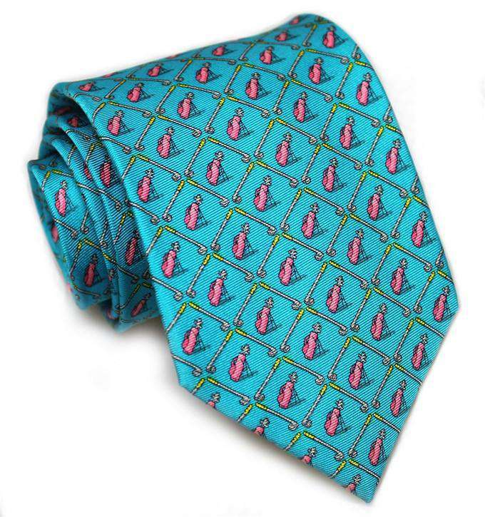 Neck Ties - Out Clubbin' Necktie In Turquoise By Bird Dog Bay