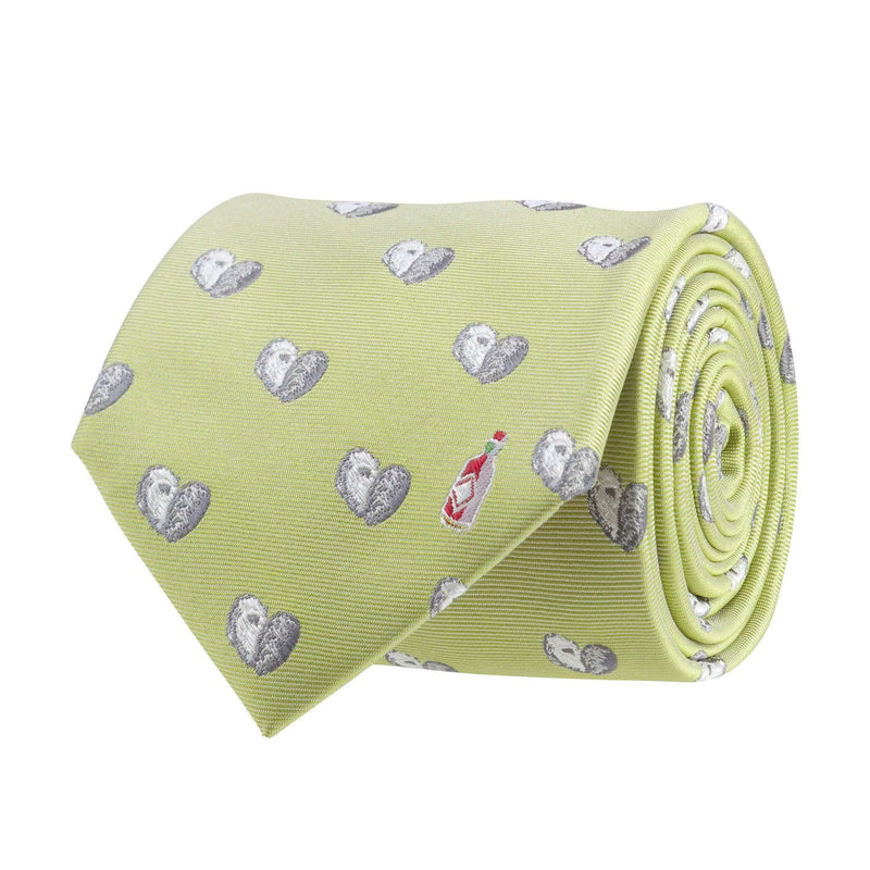 Neck Ties - Oyster And Hot Sauce Tie In Green By Southern Proper