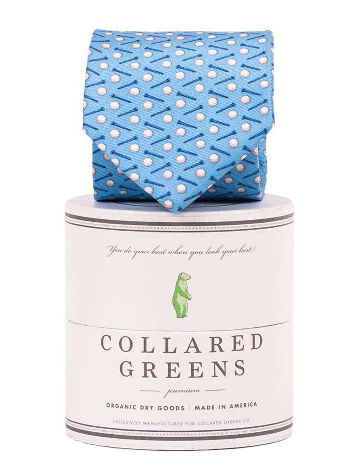 Neck Ties - Pebble Tie In Blue By Collared Greens