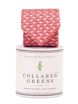 Neck Ties - Pebble Tie In Red By Collared Greens