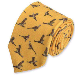 Pheasant Neck Tie in Gold by High Cotton
