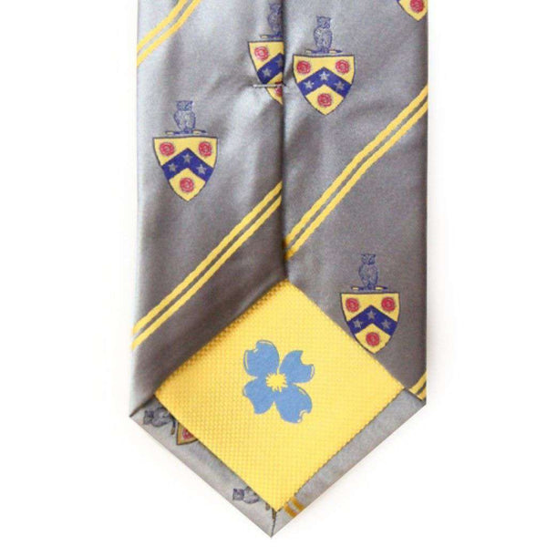 Phi Gamma Delta (FIJI) Neck Tie in Silver by Dogwood Black