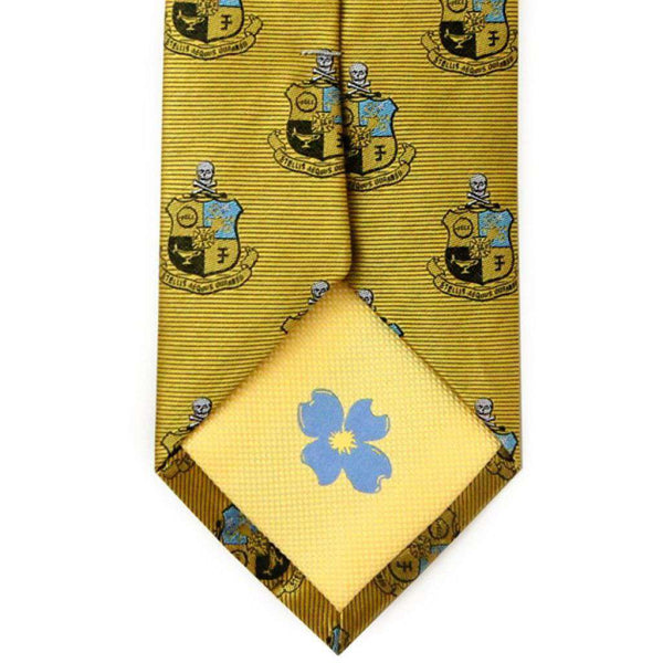 Neck Ties - Phi Kappa Sigma Neck Tie In Gold By Dogwood Black