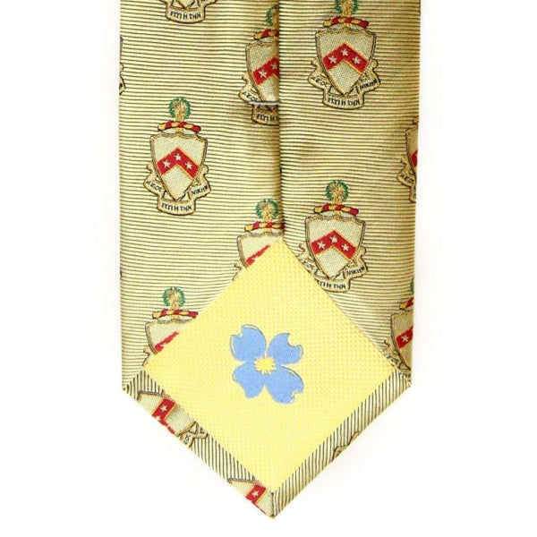 Neck Ties - Phi Kappa Tau Neck Tie In Gold By Dogwood Black