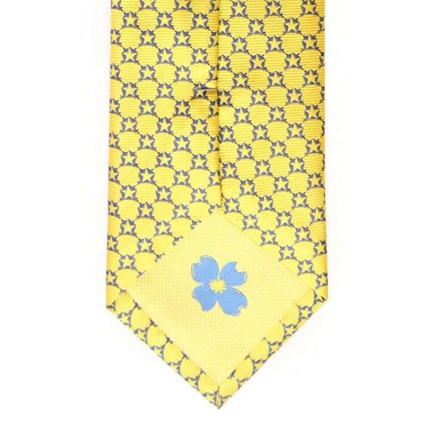 Neck Ties - Pi Kappa Phi Neck Tie In Yellow By Dogwood Black