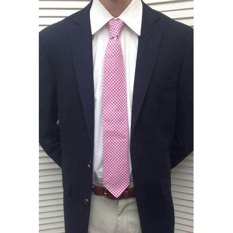 Neck Ties - Pink Gingham Tie By Just Madras - FINAL SALE
