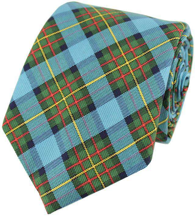 Neck Ties - Plaid Tie In Blue By Southern Proper
