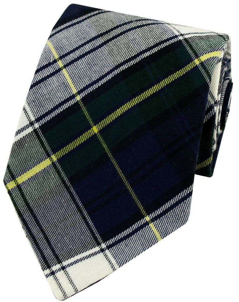 Neck Ties - Plaid Tie In Navy By Just Madras - FINAL SALE