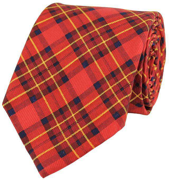 Neck Ties - Plaid Tie In Red By Southern Proper