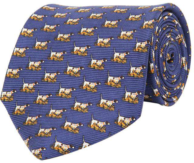 Neck Ties - Pointer Tie In Navy By Southern Proper