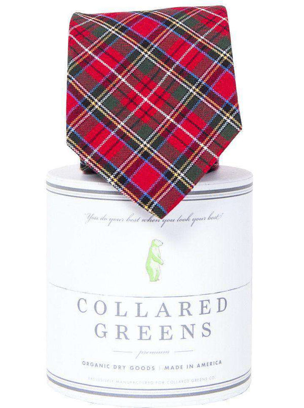 Neck Ties - Prince Of Whales Tie In Red By Collared Greens