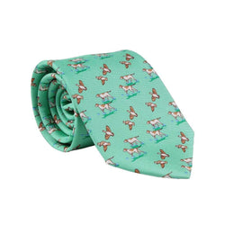 Quail Hunt Tie in Mint by Bird Dog Bay - FINAL SALE