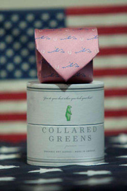 Neck Ties - Secretariat Tie In Pink By Collared Greens