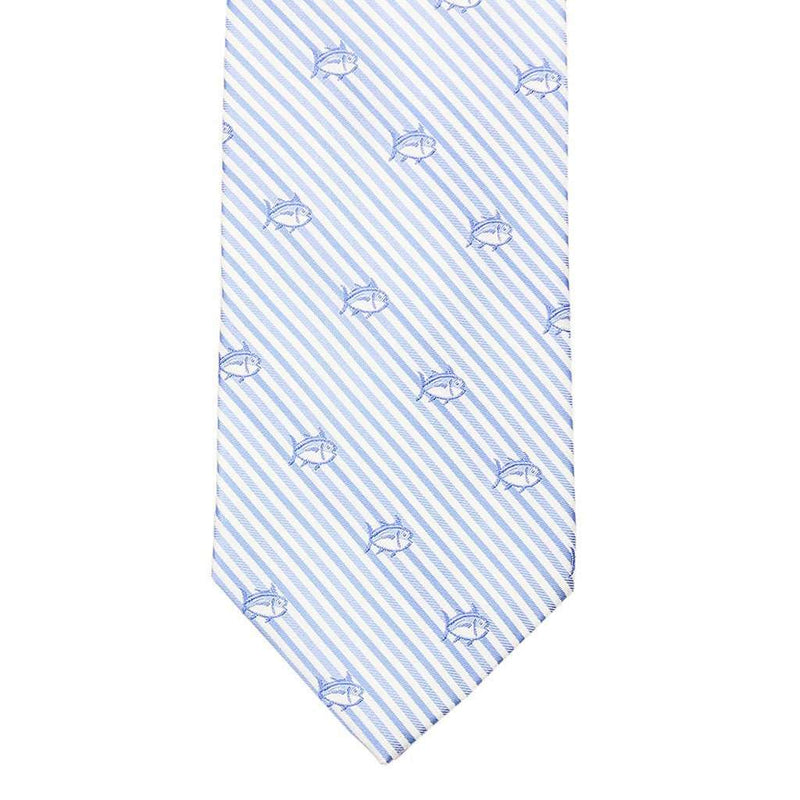 Seersucker Skipjack Neck Tie in Ocean Channel by Southern Tide