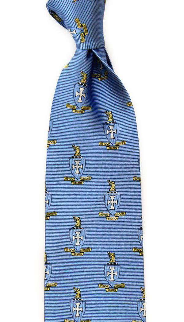 Neck Ties - Sigma Chi Neck Tie In Light Blue By Dogwood Black