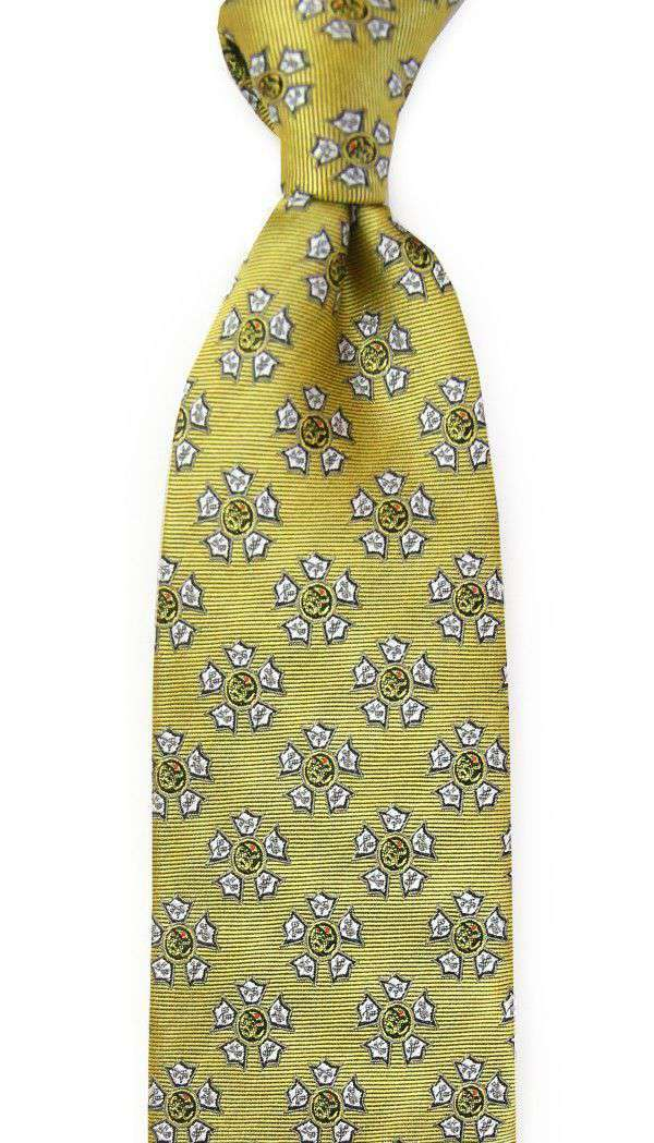 Neck Ties - Sigma Nu Neck Tie In Gold By Dogwood Black