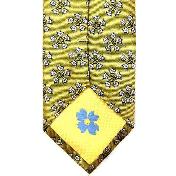 Sigma Nu Neck Tie in Gold by Dogwood Black