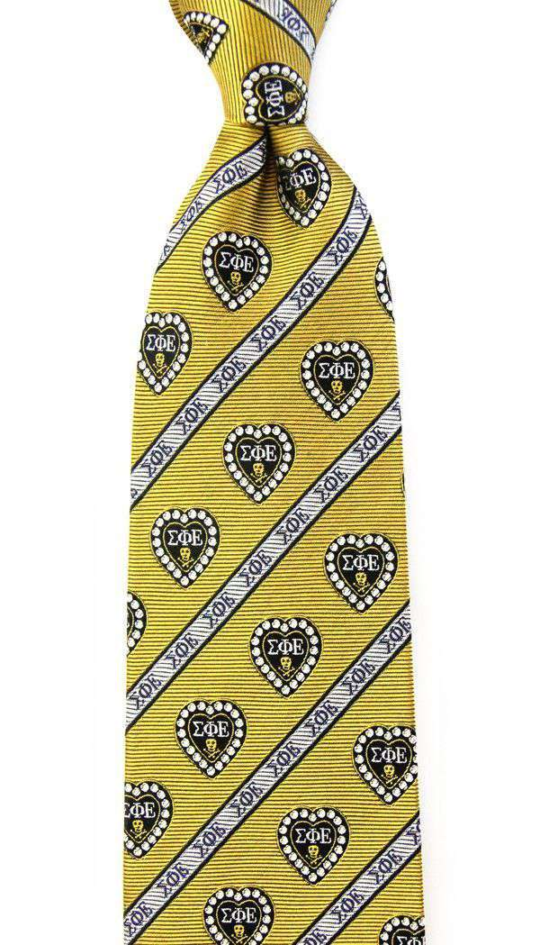 Sigma Phi Epsilon Neck Tie in Gold by Dogwood Black