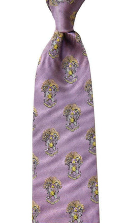 Neck Ties - Sigma Pi Neck Tie In Lavender By Dogwood Black