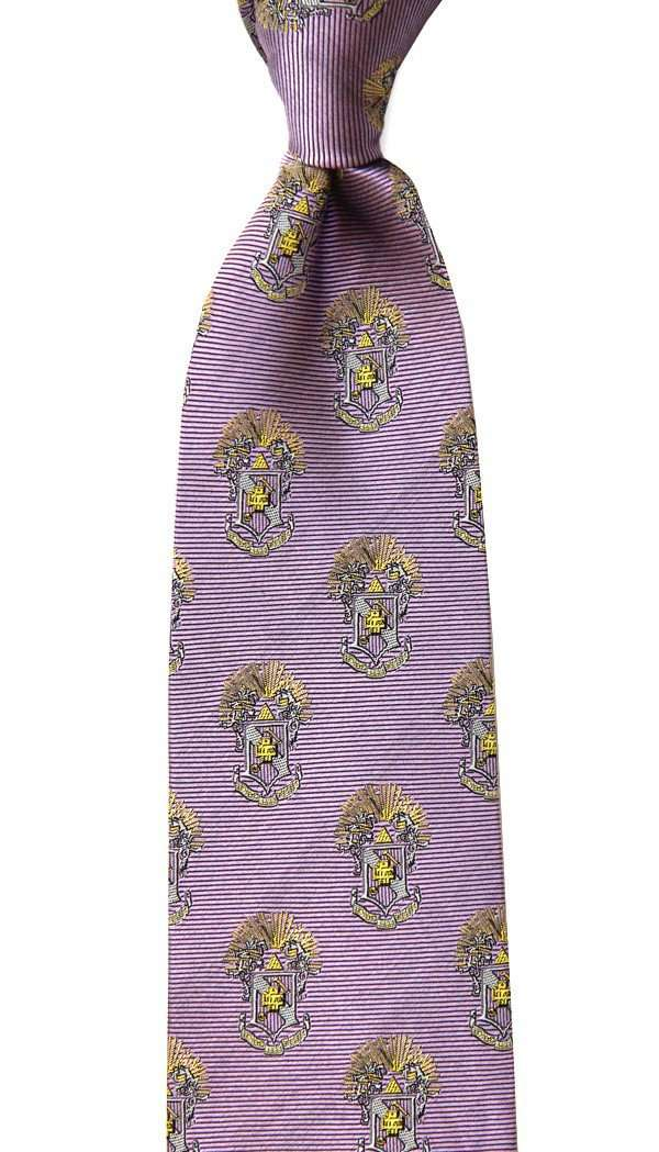 Sigma Pi Neck Tie in Lavender by Dogwood Black