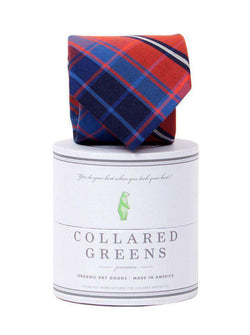 737b67f1b0c8 Collared Greens Spyglass Plaid Tie in Red and Blue – Country Club Prep