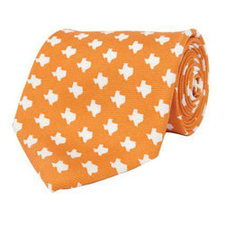 Neck Ties - Texas Gameday Tie In Orange By State Traditions And Southern Proper
