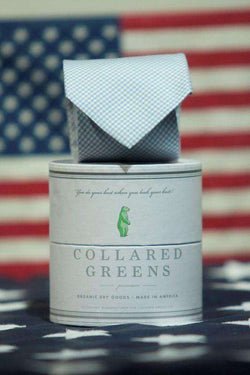Neck Ties - The Barbaro Tie In Carolina Blue By Collared Greens