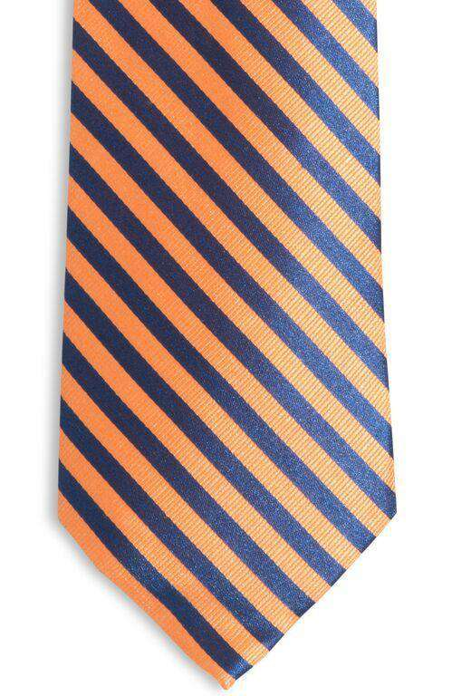 Neck Ties - The Gameday Stripe Tie In Rocky Top Orange By Southern Tide