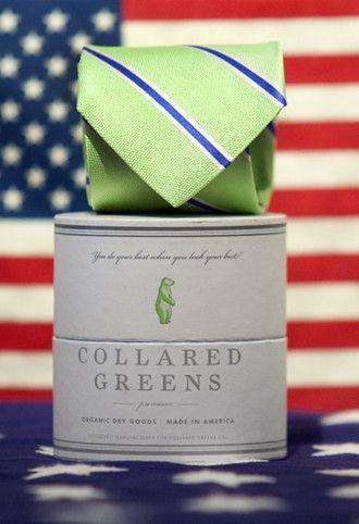 Neck Ties - The James Tie In Green By Collared Greens