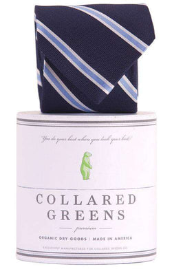 Neck Ties - The James Tie In Navy By Collared Greens