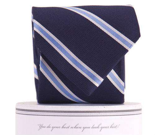 The James Tie in Navy by Collared Greens