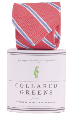 Neck Ties - The James Tie In Red By Collared Greens